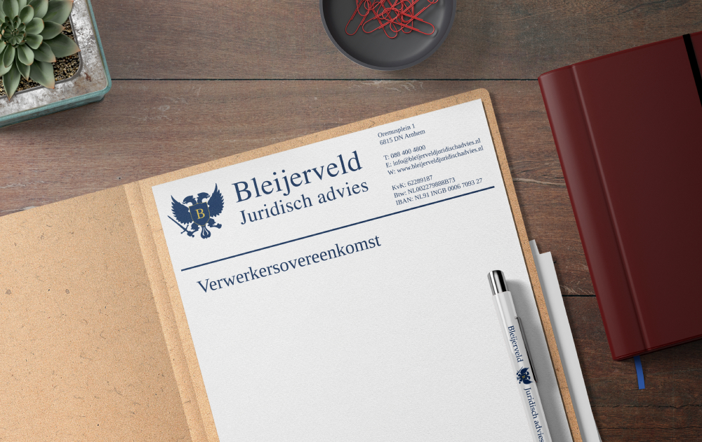 Contracten opstellen - Verwerkersovereenkomst